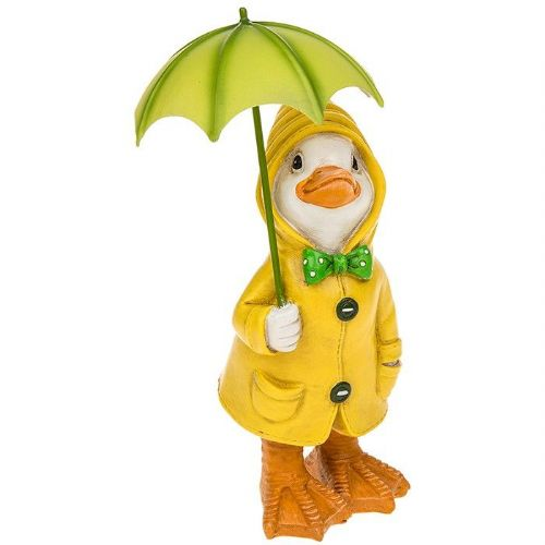Small Puddle Duck with Umbrella